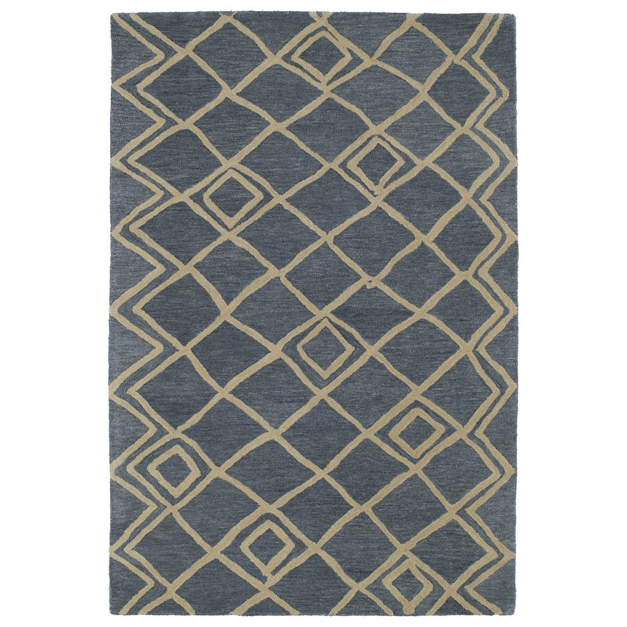 Kaleen Casablanca Blue Indoor Handcrafted Moroccan Area Rug (Common: 4 x 6; Actual: 4-ft W x 6-ft L)