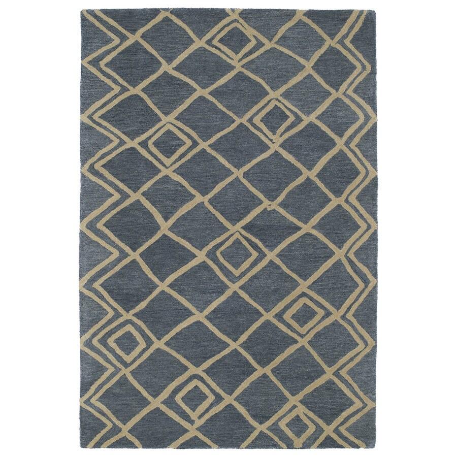 Kaleen Casablanca Blue Indoor Handcrafted Moroccan Area Rug (Common: 5 x 7; Actual: 5-ft W x 8-ft L)