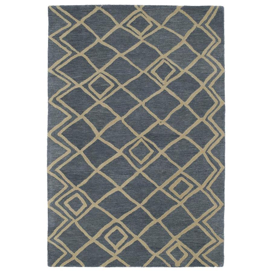 Kaleen Casablanca Blue Indoor Handcrafted Moroccan Area Rug (Common: 10 x 14; Actual: 9.5-ft W x 13.5-ft L)