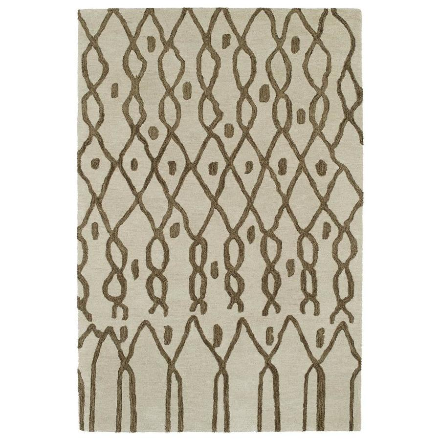 Kaleen Casablanca Ivory Indoor Handcrafted Moroccan Throw Rug (Common: 2 x 3; Actual: 2-ft W x 3-ft L)