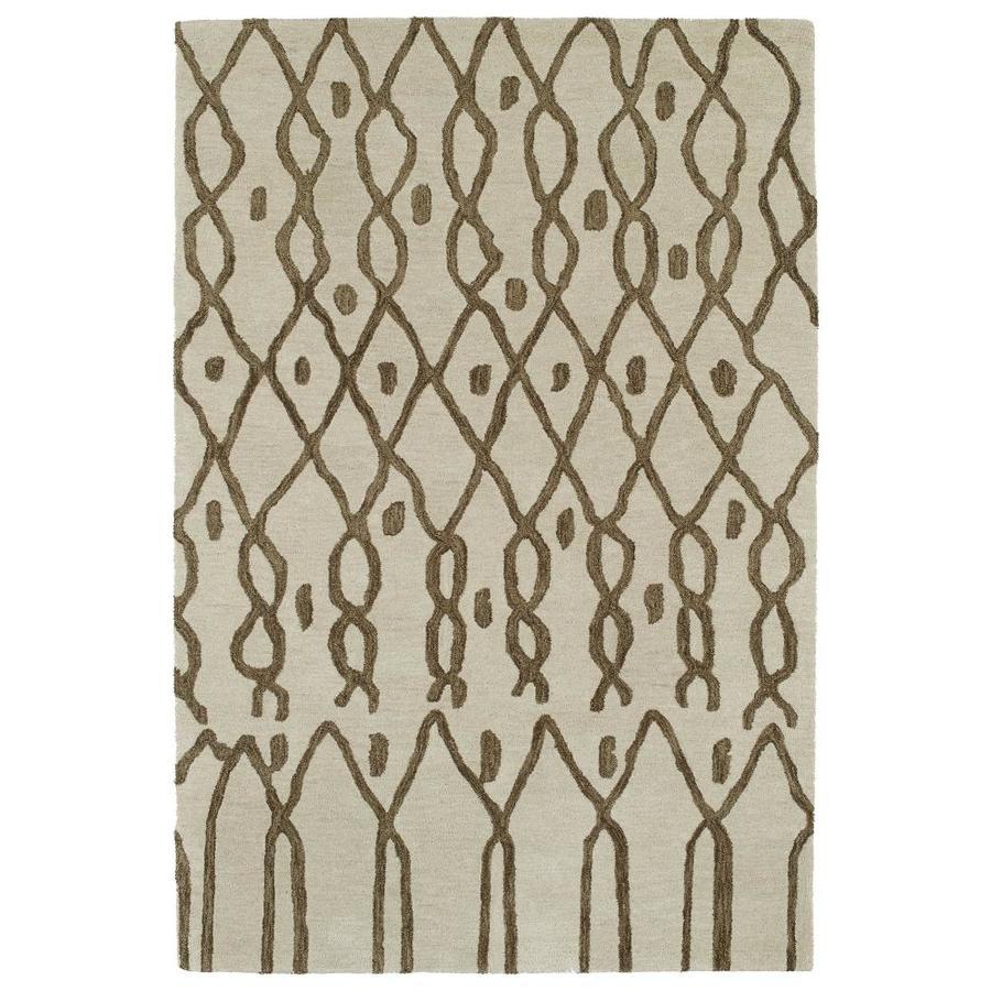 Kaleen Casablanca Ivory Rectangular Indoor Handcrafted Moroccan Area Rug (Common: 5 x 8; Actual: 5-ft W x 8-ft L)