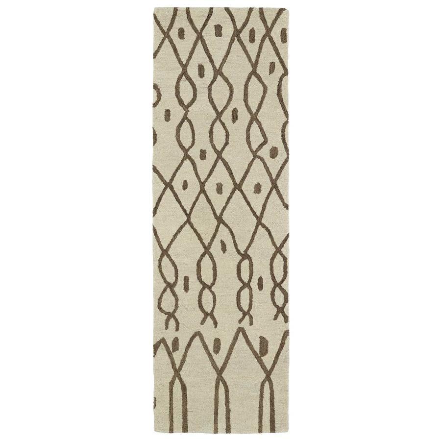 Kaleen Casablanca Ivory Rectangular Indoor Handcrafted Moroccan Area Rug (Common: 2 x 10; Actual: 3-ft W x 10-ft L)