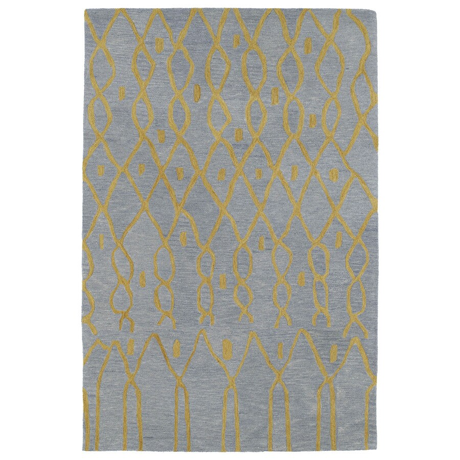 Kaleen Casablanca Light Blue Indoor Handcrafted Moroccan Area Rug (Common: 8 x 11; Actual: 8-ft W x 11-ft L)