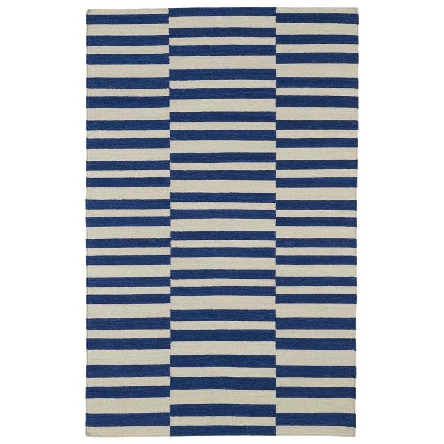 Kaleen Nomad Navy Indoor Handcrafted Southwestern Area Rug (Common: 4 x 6; Actual: 3.5-ft W x 5.5-ft L)