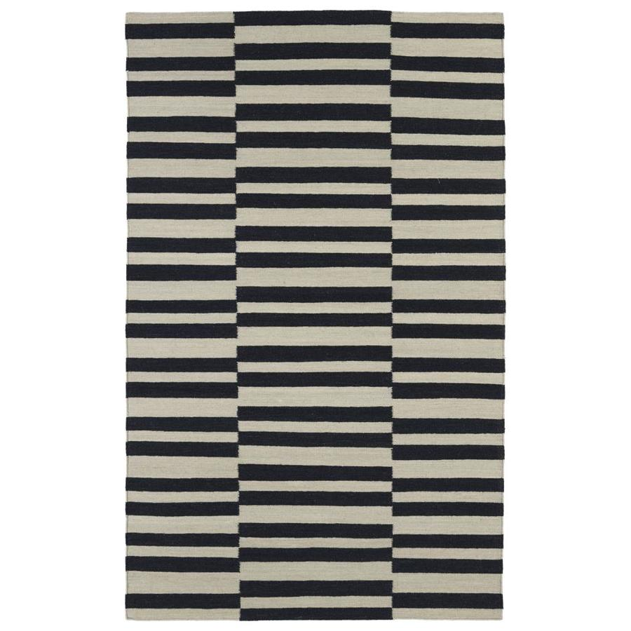 Kaleen Nomad Black Rectangular Indoor Handcrafted Southwestern Area Rug (Common: 8 x 10; Actual: 8-ft W x 10-ft L)