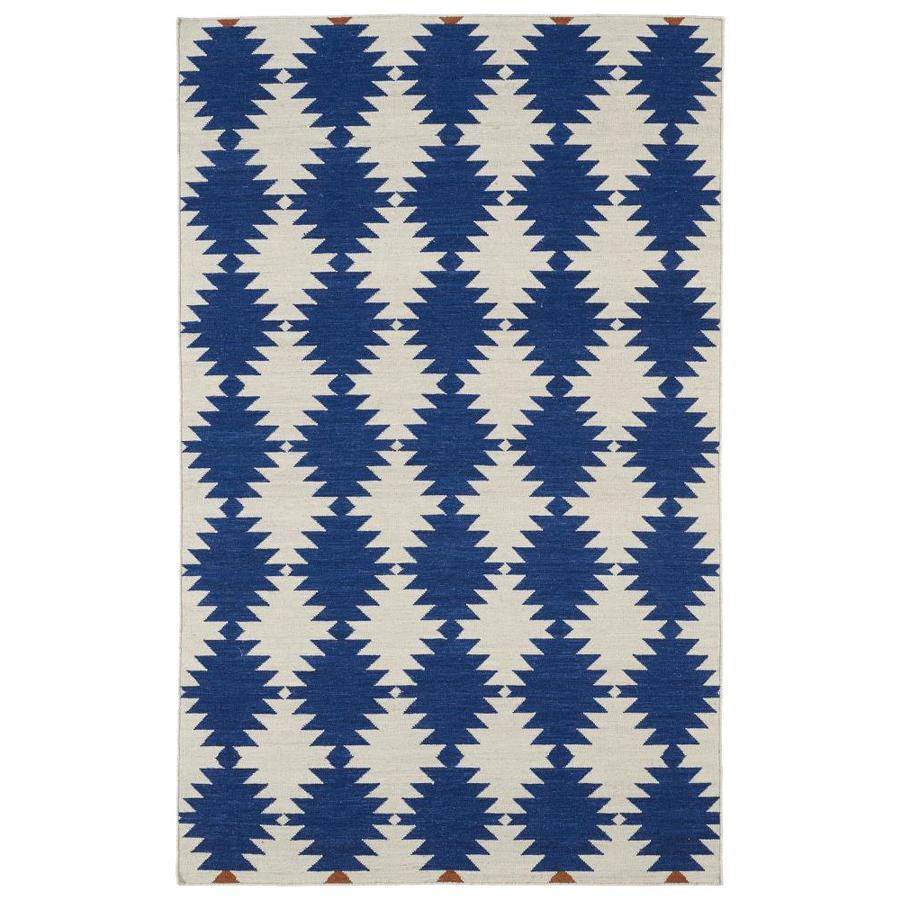 Kaleen Nomad Navy Rectangular Indoor Handcrafted Southwestern Area Rug (Common: 5 x 8; Actual: 5-ft W x 8-ft L)