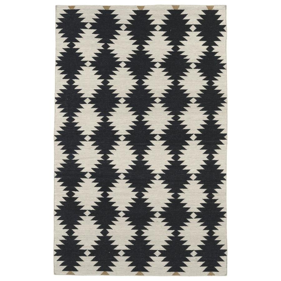 Kaleen Nomad Black Rectangular Indoor Handcrafted Southwestern Area Rug (Common: 4 x 6; Actual: 3.5-ft W x 5.5-ft L)