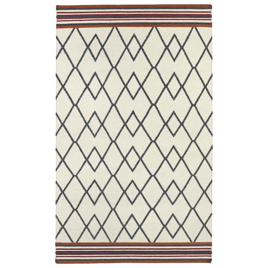 Kaleen Nomad Ivory Rectangular Indoor Handcrafted Southwestern Area Rug (Common: 4 x 6; Actual: 3.5-ft W x 5.5-ft L)