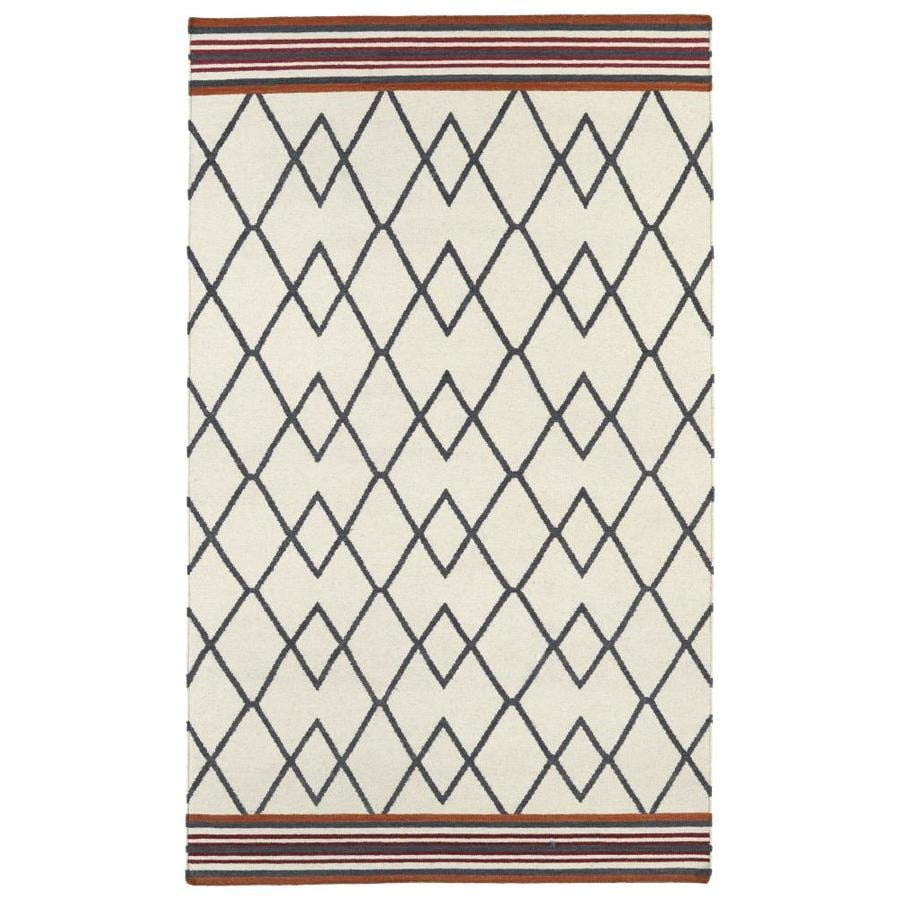 Kaleen Nomad Ivory Rectangular Indoor Handcrafted Southwestern Area Rug (Common: 5 x 8; Actual: 5-ft W x 8-ft L)