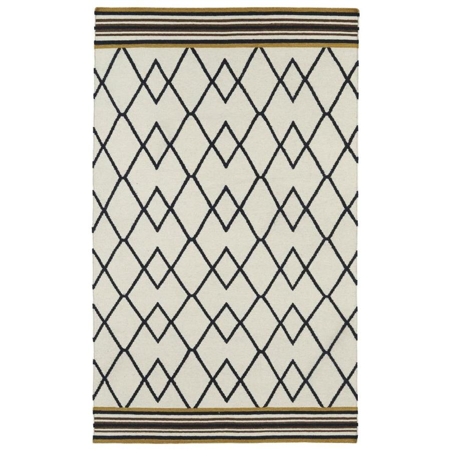 Kaleen Nomad Black Rectangular Indoor Handcrafted Southwestern Area Rug (Common: 9 X 12; Actual: 9-ft W x 12-ft L x 0-ft dia)