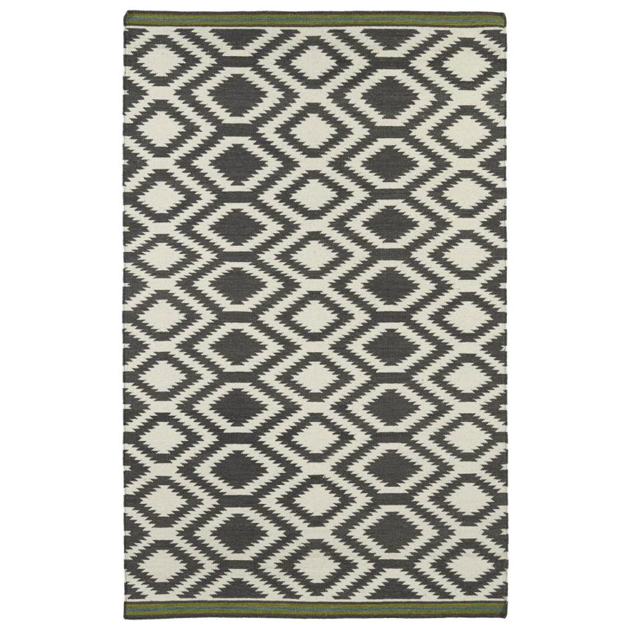 Kaleen Nomad Grey Rectangular Indoor Handcrafted Southwestern Area Rug (Common: 5 x 8; Actual: 5-ft W x 8-ft L)