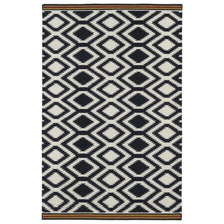 Kaleen Nomad Black Rectangular Indoor Handcrafted Southwestern Area Rug (Common: 5 x 8; Actual: 5-ft W x 8-ft L)