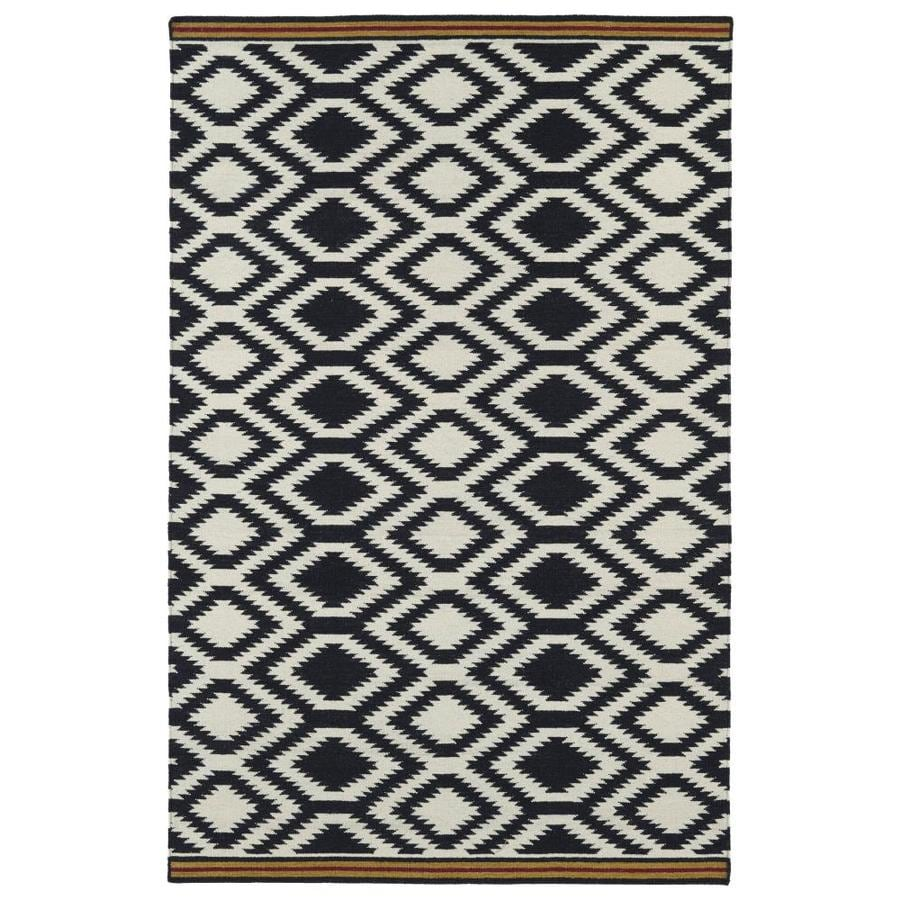 Kaleen Nomad Black Indoor Handcrafted Southwestern Area Rug (Common: 8 x 10; Actual: 8-ft W x 10-ft L)