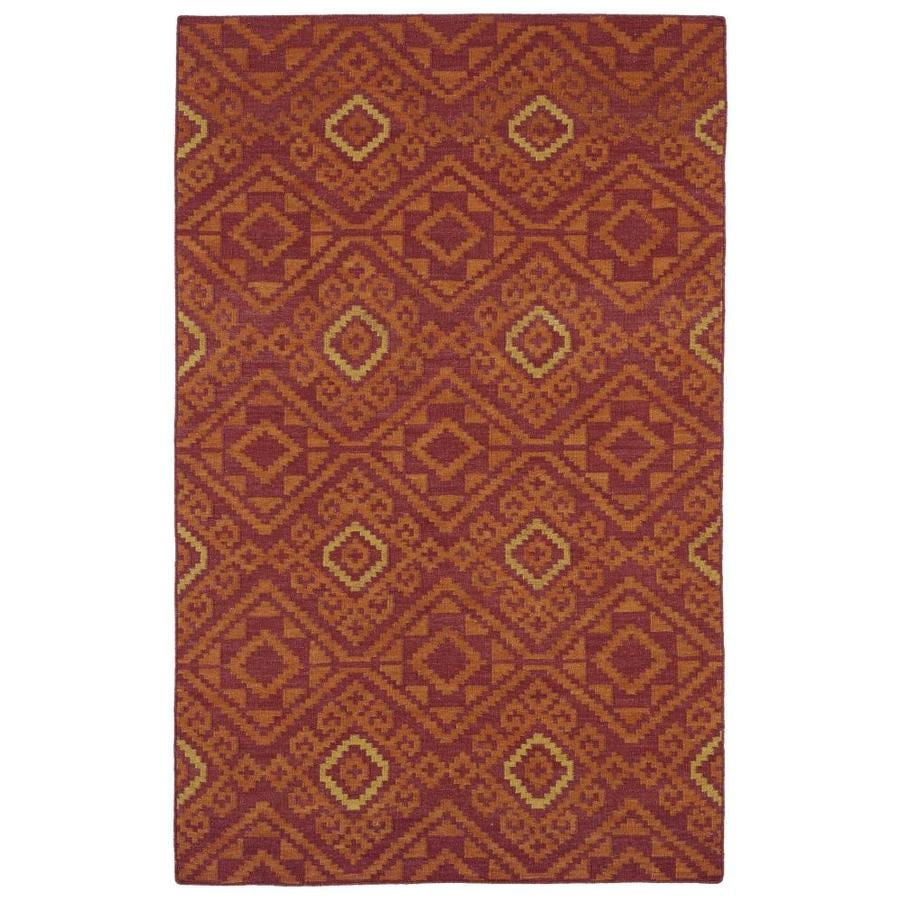 Kaleen Nomad Red Rectangular Indoor Handcrafted Southwestern Runner (Common: 2 x 8; Actual: 2.5-ft W x 8-ft L)