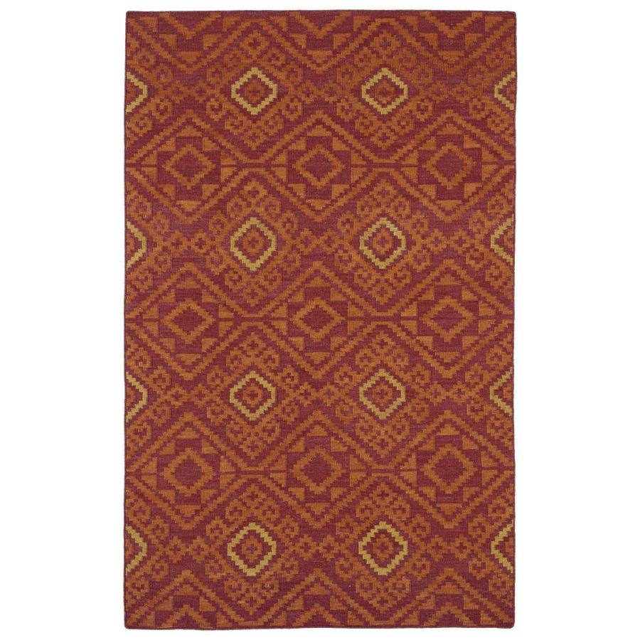 Kaleen Nomad Red Rectangular Indoor Handcrafted Southwestern Area Rug (Common: 4 x 6; Actual: 3.5-ft W x 5.5-ft L)