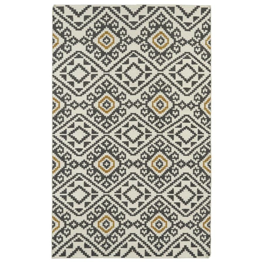 Kaleen Nomad Charcoal Rectangular Indoor Handcrafted Southwestern Area Rug (Common: 4 x 6; Actual: 3.5-ft W x 5.5-ft L)