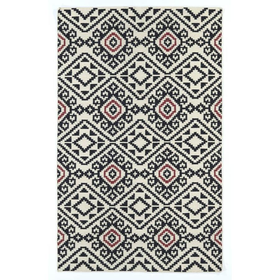 Kaleen Nomad Black Rectangular Indoor Handcrafted Southwestern Area Rug (Common: 9 x 12; Actual: 9-ft W x 12-ft L)