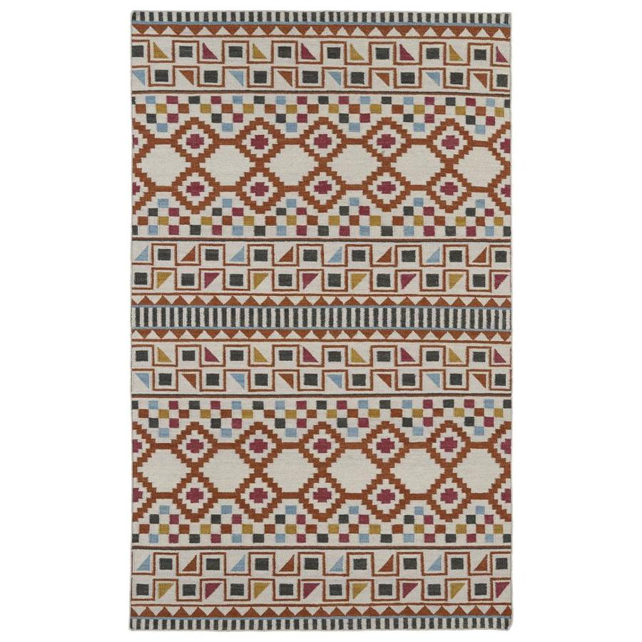 Kaleen Nomad Paprika Rectangular Indoor Handcrafted Southwestern Area Rug (Common: 5 x 8; Actual: 5-ft W x 8-ft L)