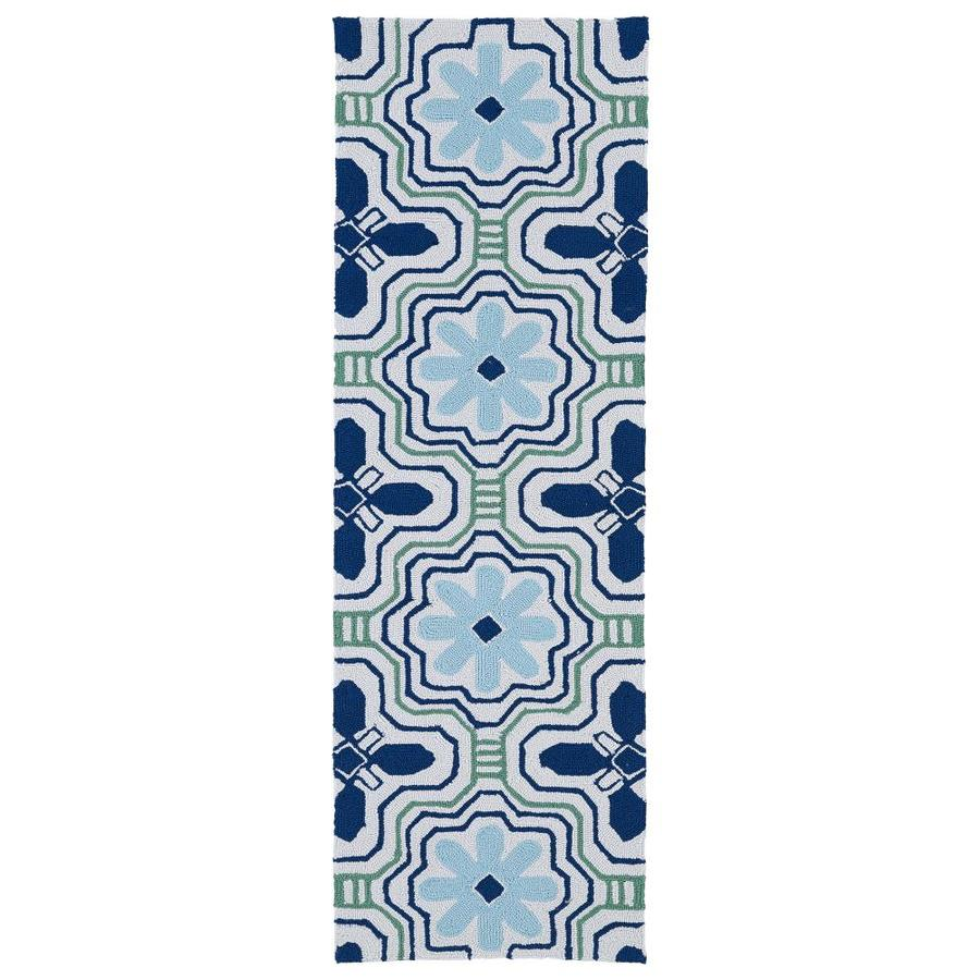 Kaleen Matira Ivory Rectangular Indoor/Outdoor Handcrafted Coastal Runner (Common: 2X7; Actual: 2-ft W x 6-ft L)