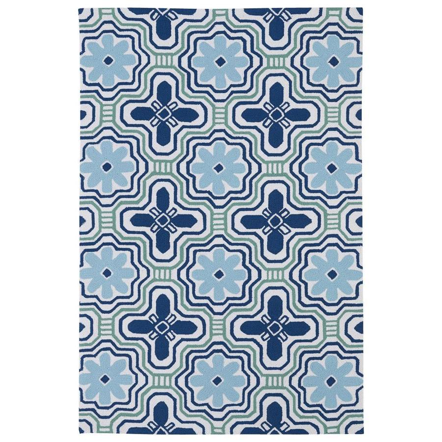 Kaleen Matira Ivory Rectangular Indoor/Outdoor Handcrafted Coastal Area Rug (Common: 5 x 7; Actual: 5-ft W x 7.5-ft L x 0-ft Dia)