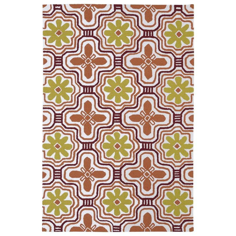 Kaleen Matira Tangerine Rectangular Indoor Handcrafted Coastal Throw Rug (Common: 3 X 5; Actual: 3-ft W x 5-ft L)