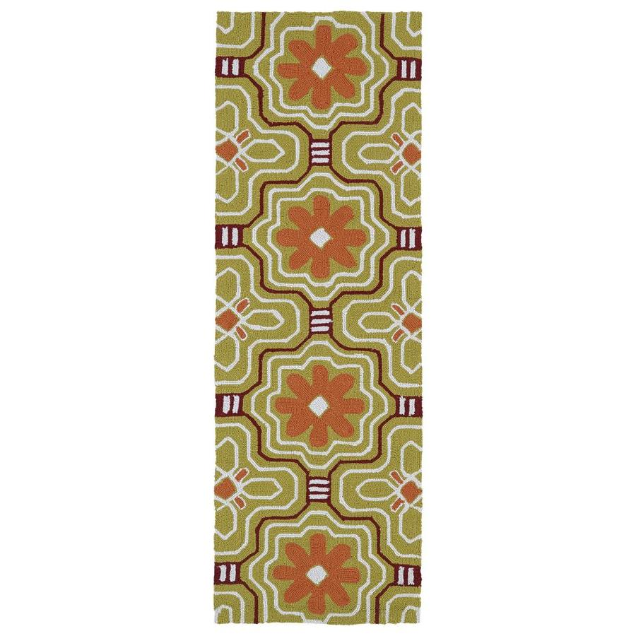 Kaleen Matira Gold Rectangular Indoor Handcrafted Coastal Runner (Common: 2 x 6; Actual: 2-ft W x 6-ft L)