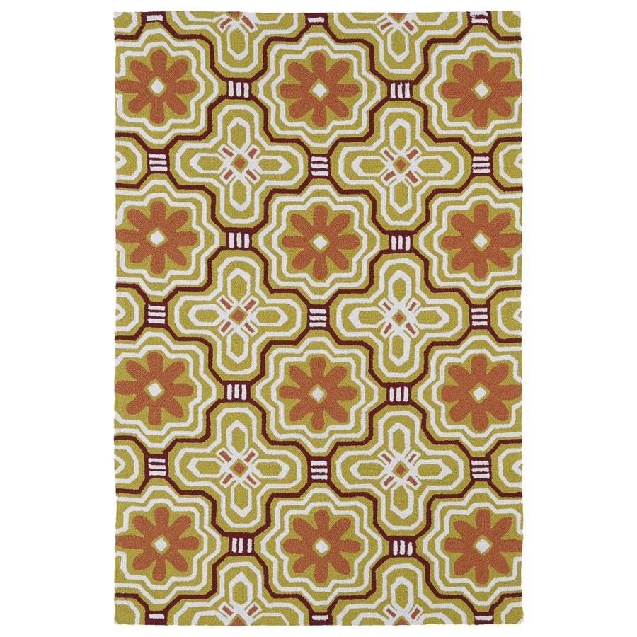 Kaleen Matira Gold Rectangular Indoor Handcrafted Coastal Area Rug (Common: 9 X 12; Actual: 8.5-ft W x 11.5-ft L)