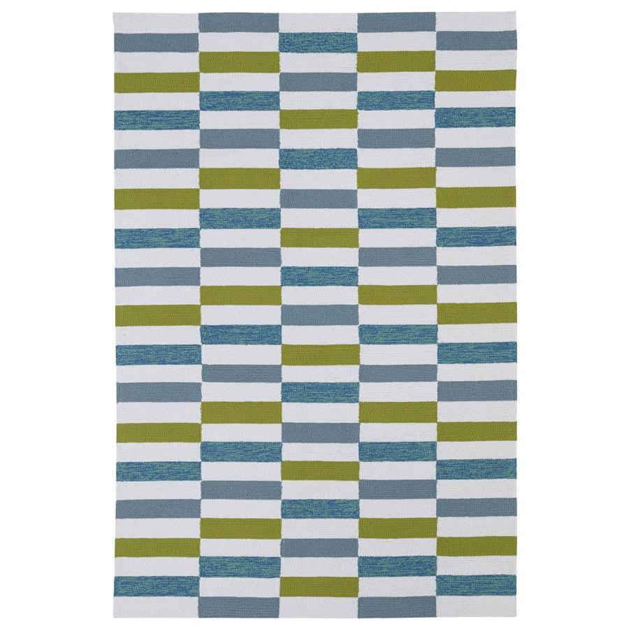 Kaleen Matira Ivory Indoor Handcrafted Coastal Area Rug (Common: 5 x 8; Actual: 5-ft W x 7.5-ft L)