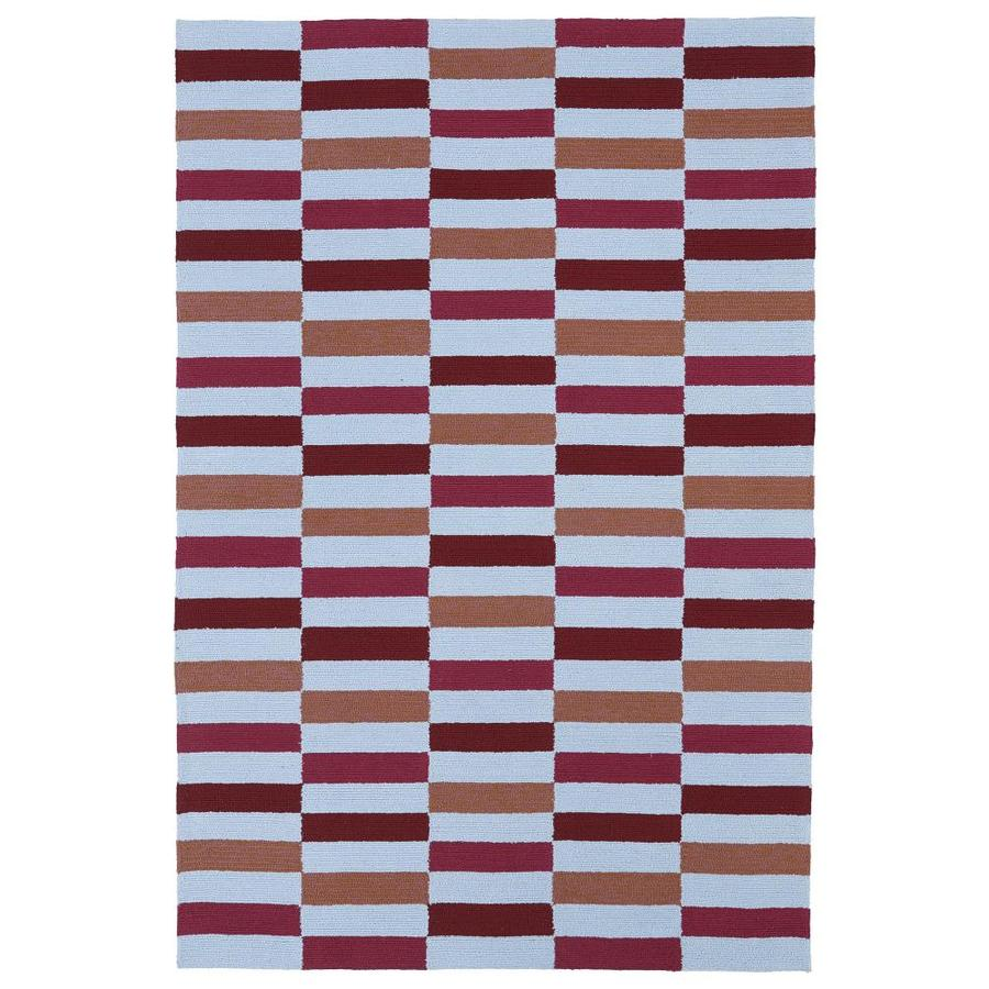 Kaleen Matira Cranberry Indoor Handcrafted Coastal Area Rug (Common: 8 x 10; Actual: 7.5-ft W x 9-ft L)