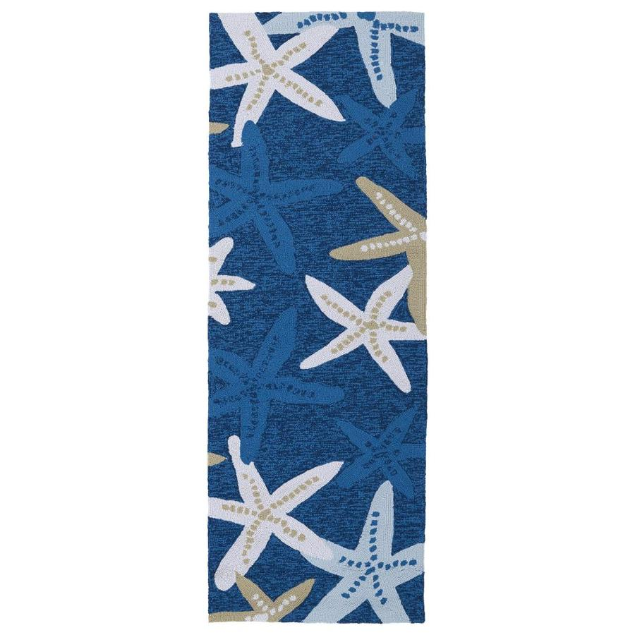 Shop kaleen matira blue rectangular indoor outdoor for Indoor outdoor runners rugs
