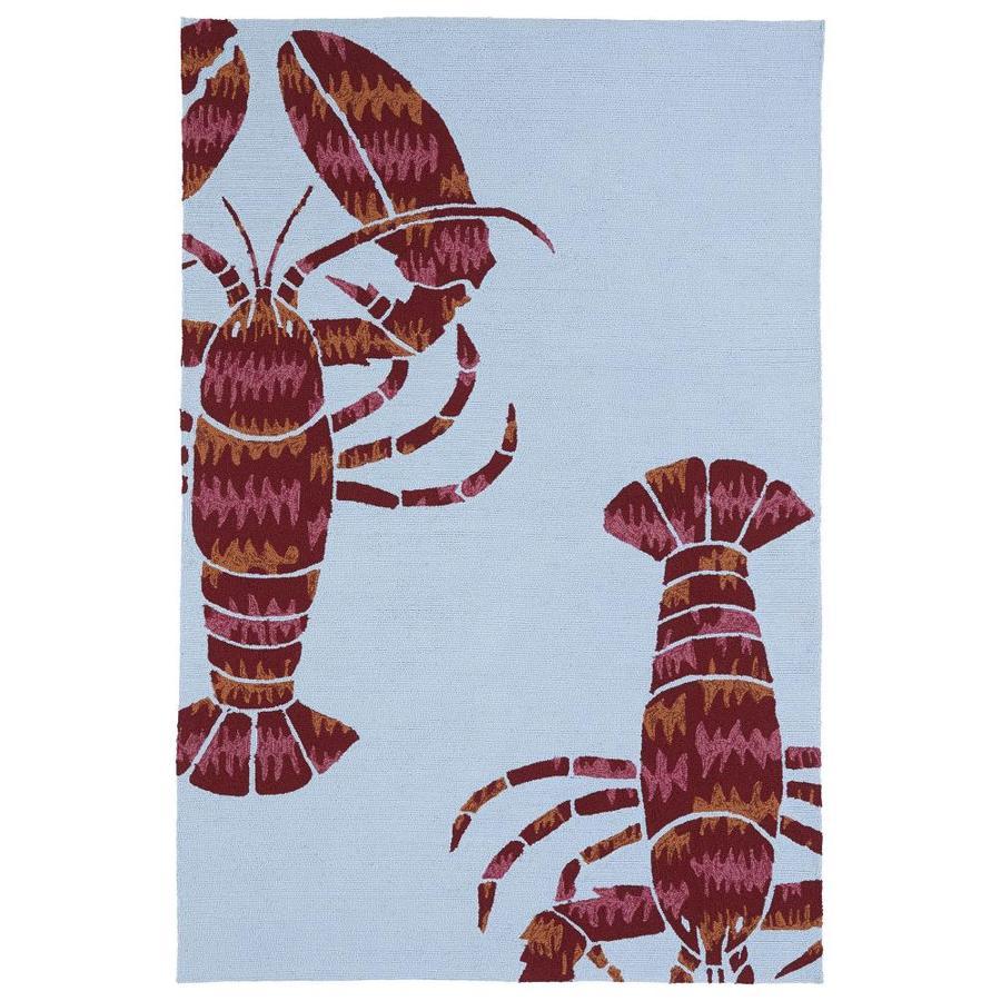 Kaleen Matira Blue Indoor Handcrafted Coastal Area Rug (Common: 5 x 8; Actual: 5-ft W x 7.5-ft L)