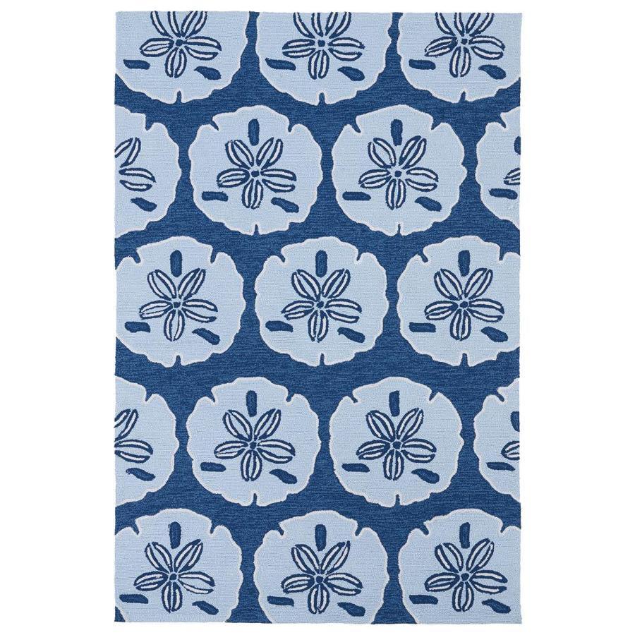 Kaleen Matira Blue Rectangular Indoor Handcrafted Coastal Area Rug (Common: 8 x 10; Actual: 7.5-ft W x 9-ft L)