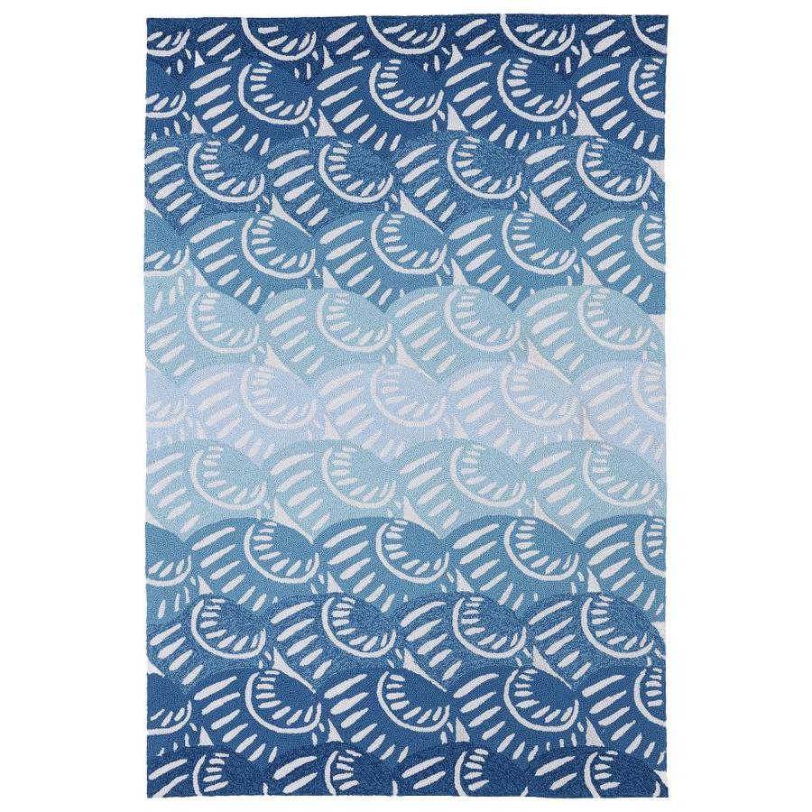 Kaleen Matira Blue 3 Ft. x 5 Ft. Throw Rug