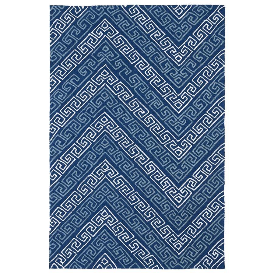 Kaleen Matira Blue Indoor Handcrafted Coastal Throw Rug (Common: 2 x 3; Actual: 2-ft W x 3-ft L)