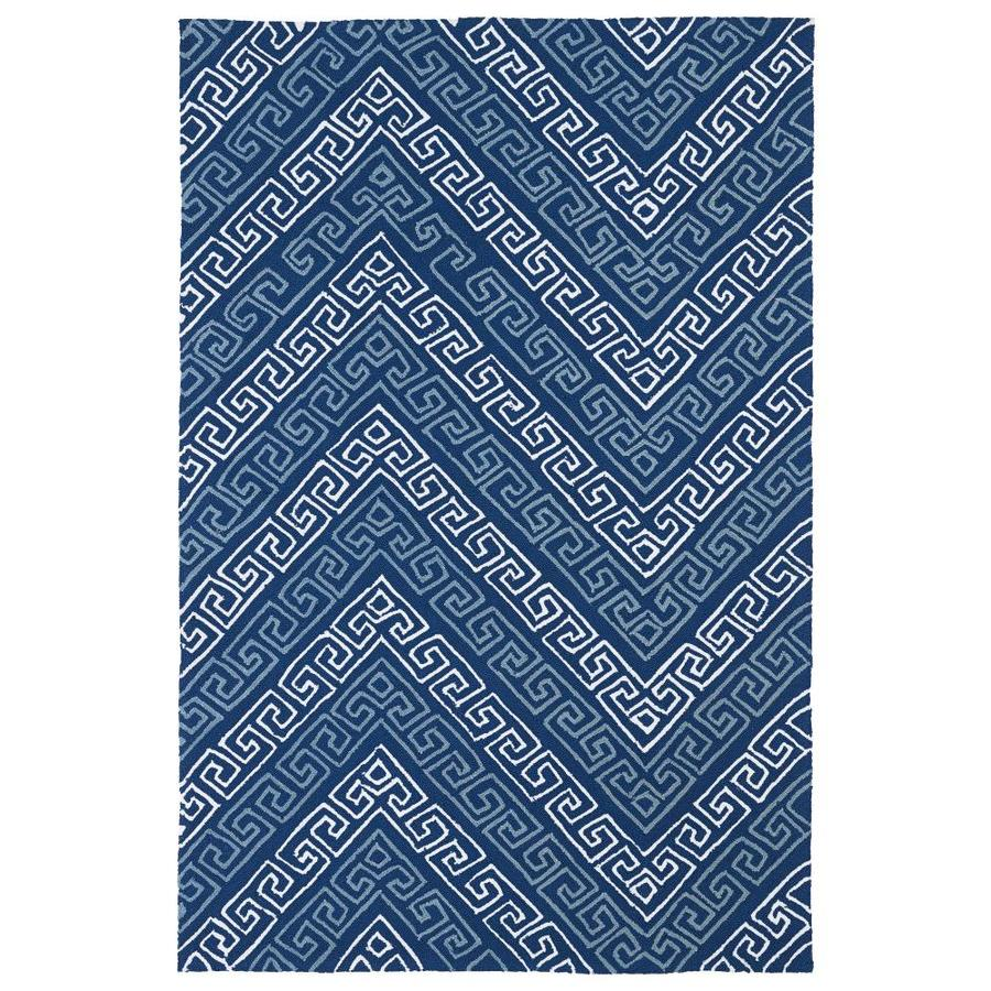 Kaleen Matira Blue Indoor Handcrafted Coastal Throw Rug (Common: 3 x 5; Actual: 3-ft W x 5-ft L)