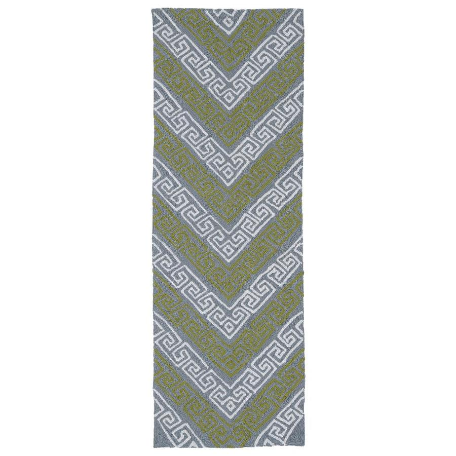 Kaleen Matira Grey Rectangular Indoor Handcrafted Coastal Runner (Common: 2 x 6; Actual: 2-ft W x 6-ft L)
