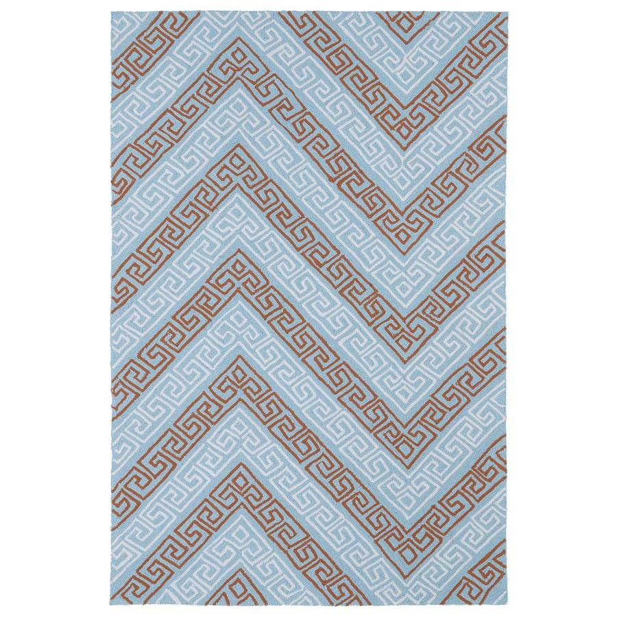 Kaleen Matira Light Blue Rectangular Indoor Handcrafted Coastal Area Rug (Common: 9 X 12; Actual: 8.5-ft W x 11.5-ft L)