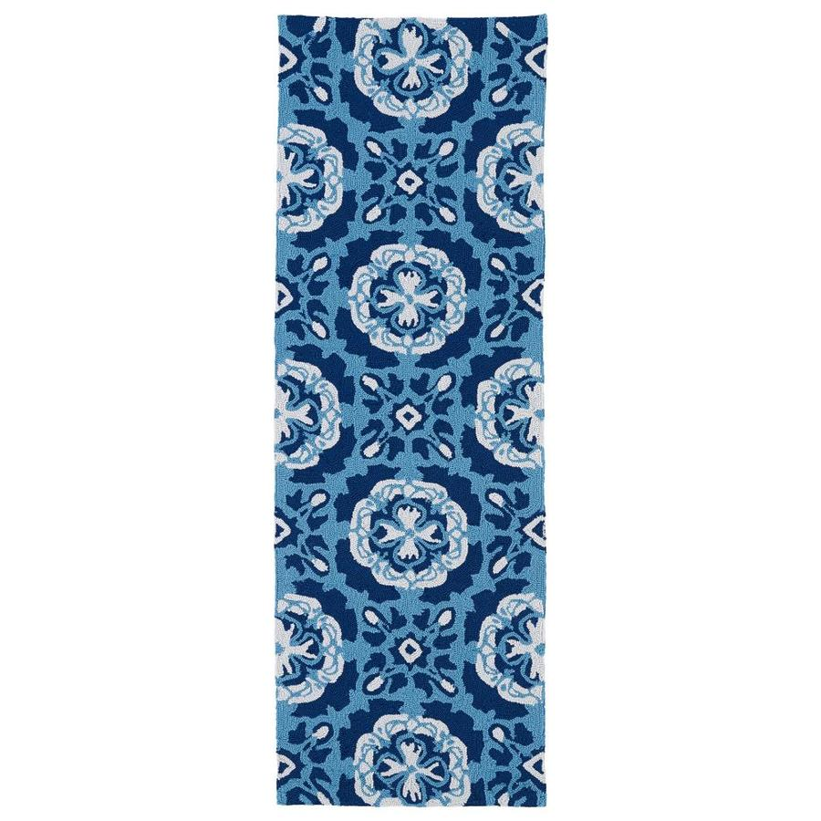 Kaleen Matira Blue Rectangular Indoor/Outdoor Handcrafted Coastal Runner (Common: 2 x 7; Actual: 2-ft W x 6-ft L)