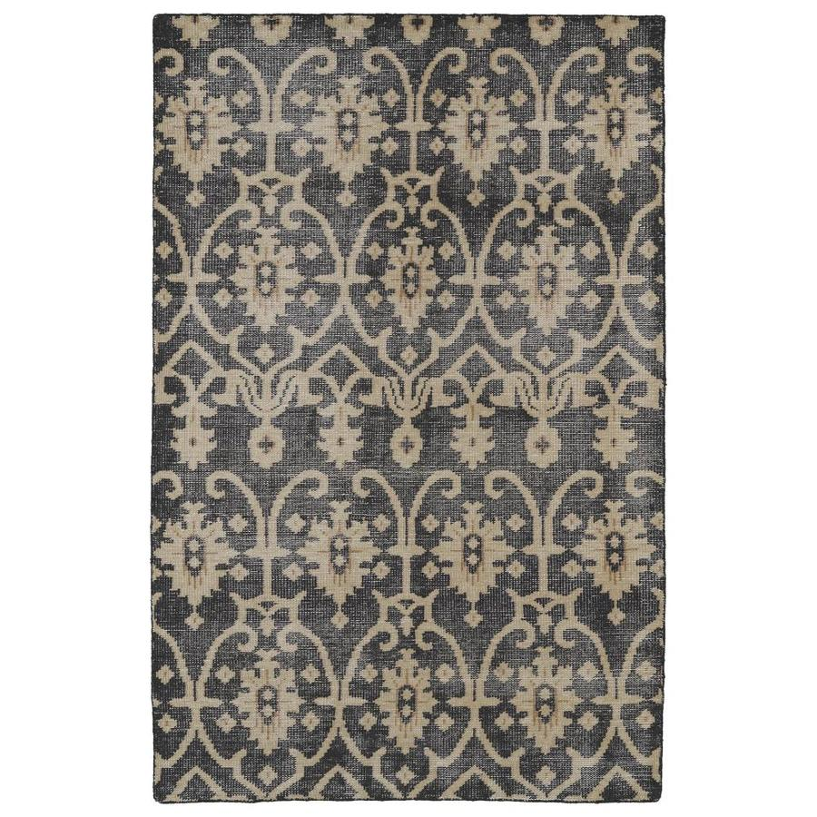 Kaleen Restoration Black Rectangular Indoor Handcrafted Southwestern Area Rug (Common: 6 x 9; Actual: 5.5-ft W x 8.5-ft L)