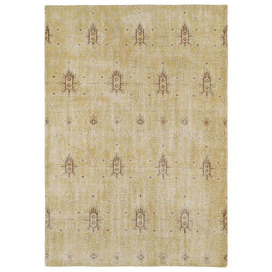 Kaleen Restoration Gold Rectangular Indoor Handcrafted Southwestern Area Rug (Common: 6 x 9; Actual: 5.5-ft W x 8.5-ft L)