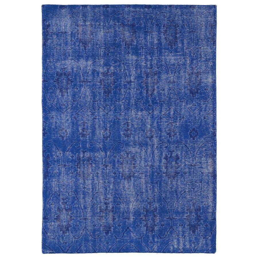 Kaleen Restoration Blue Rectangular Indoor Handcrafted Southwestern Area Rug (Common: 4 x 6; Actual: 4-ft W x 6-ft L)
