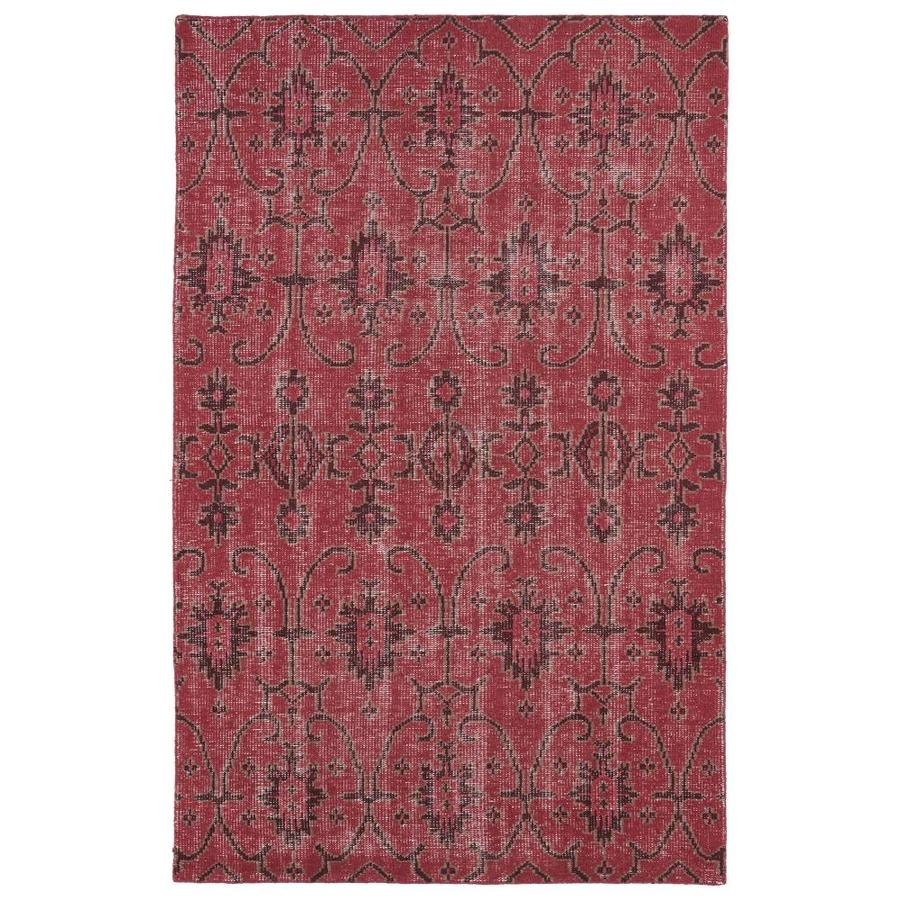 Kaleen Restoration Red Rectangular Indoor Handcrafted Southwestern Area Rug (Common: 4 x 6; Actual: 4-ft W x 6-ft L)