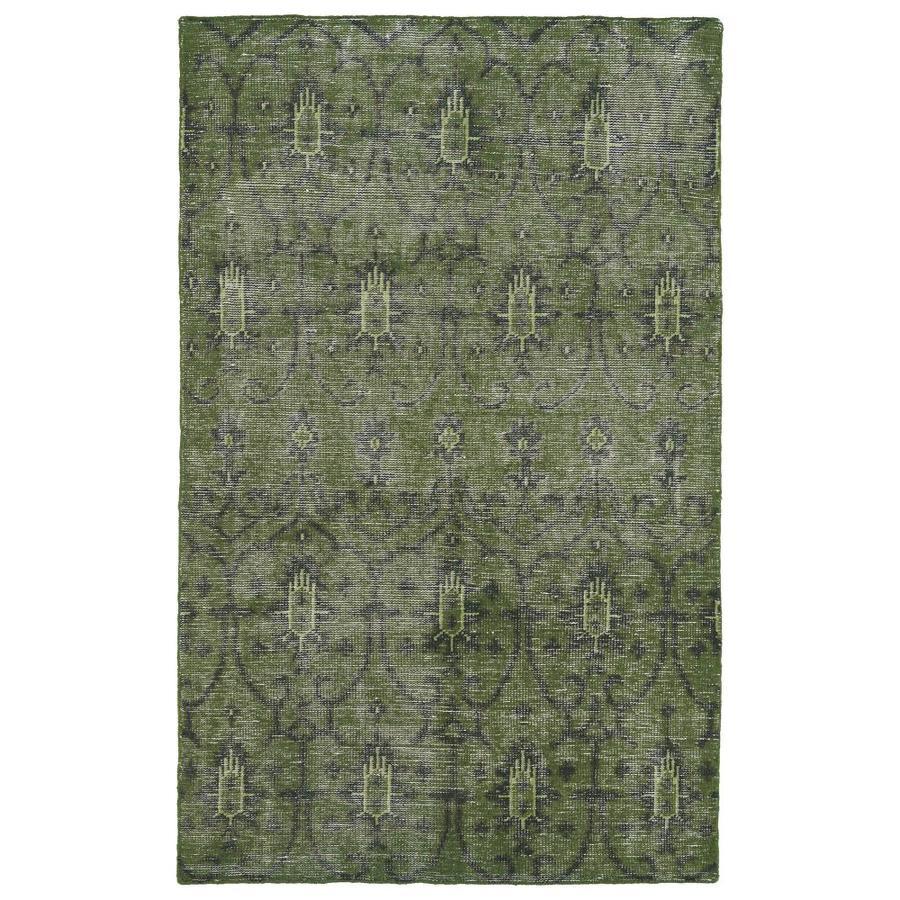 Kaleen Restoration Green Indoor Handcrafted Southwestern Area Rug (Common: 6 x 9; Actual: 5.5-ft W x 8.5-ft L)