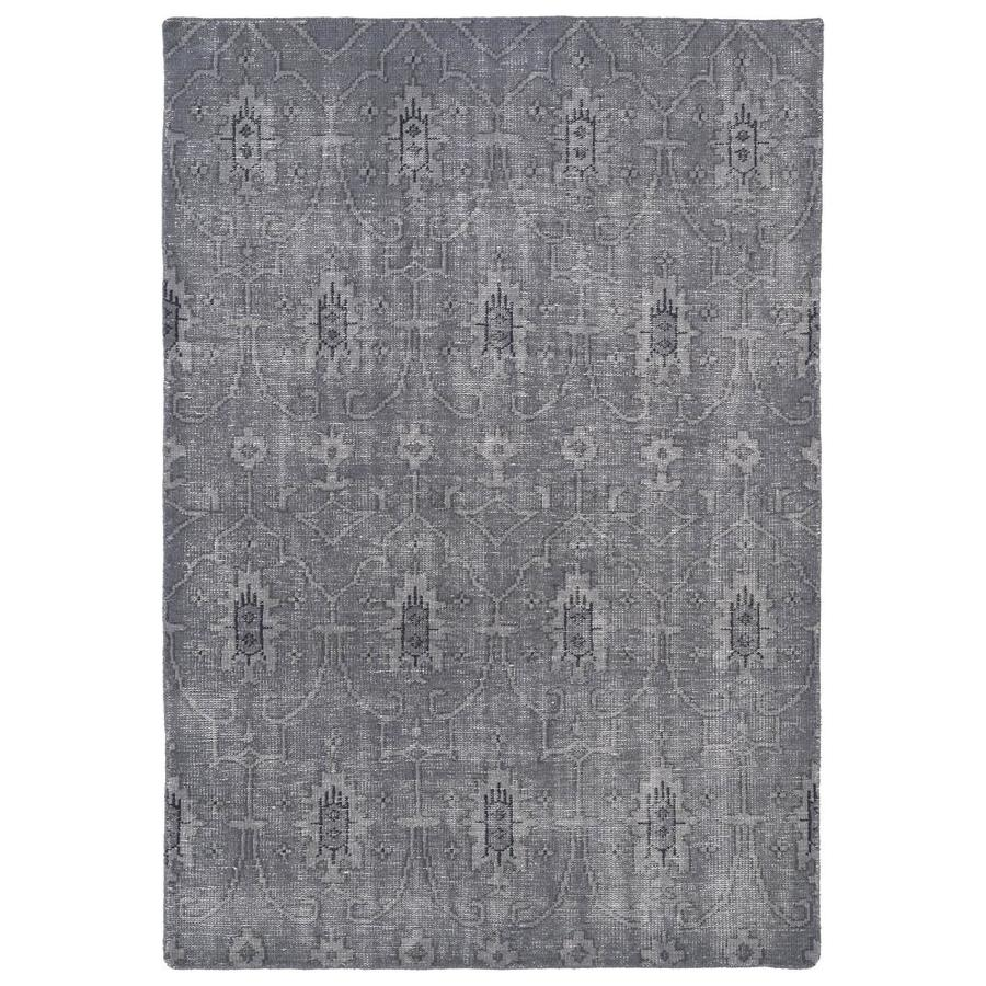 Kaleen Restoration Grey Rectangular Indoor Handcrafted Southwestern Area Rug (Common: 6 x 9; Actual: 5.5-ft W x 8.5-ft L)
