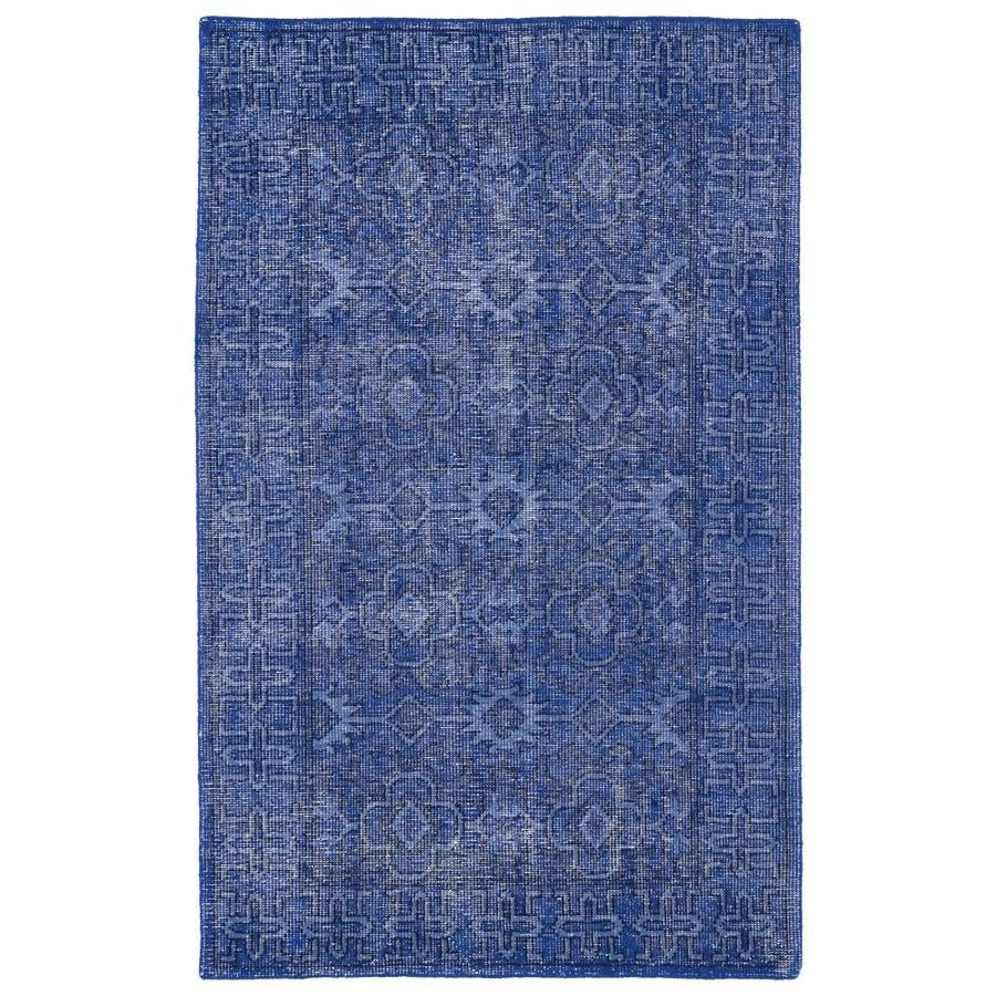 Kaleen Restoration Blue Rectangular Indoor Handcrafted Southwestern Area Rug (Common: 6 x 9; Actual: 5.5-ft W x 8.5-ft L)