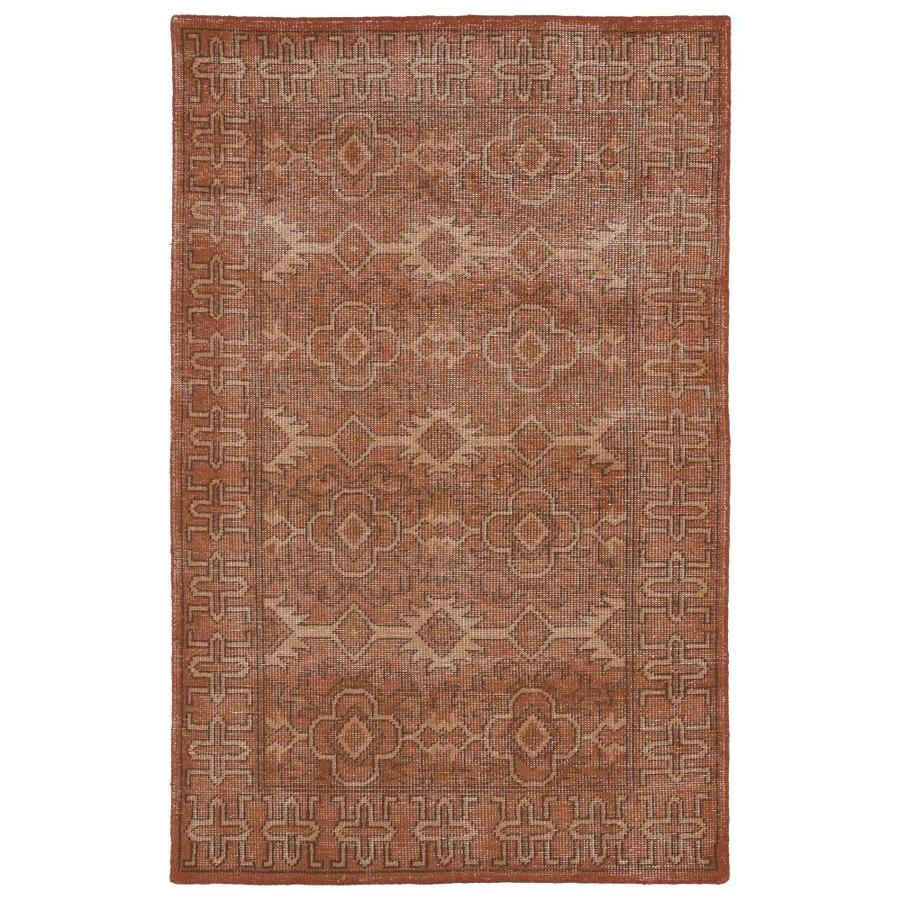 Kaleen Restoration Paprika Indoor Handcrafted Southwestern Throw Rug (Common: 2 x 3; Actual: 2-ft W x 3-ft L)