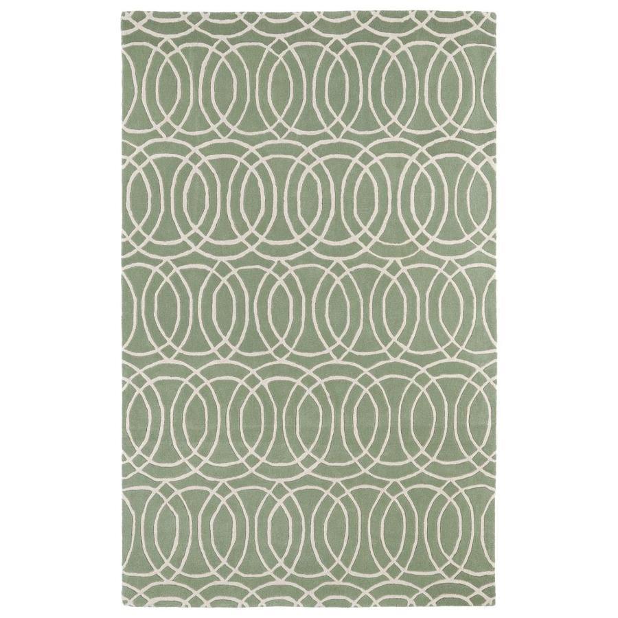 Kaleen Revolution Mint Rectangular Indoor Handcrafted Novelty Area Rug (Common: 8 x 11; Actual: 8-ft W x 11-ft L)