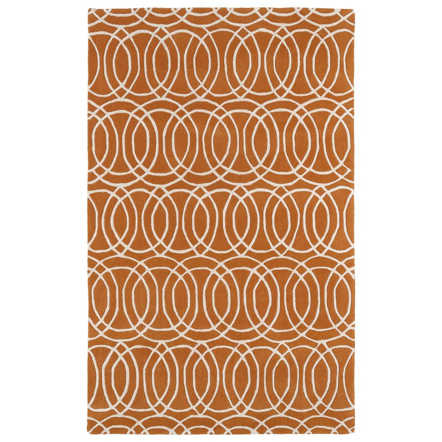 Kaleen Revolution Orange Indoor Handcrafted Moroccan Throw Rug (Common: 2 x 3; Actual: 2-ft W x 3-ft L)