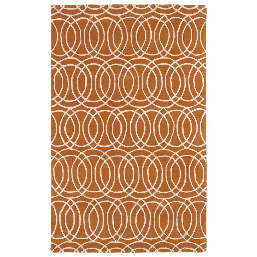 Kaleen Revolution Orange Rectangular Indoor Handcrafted Novelty Area Rug (Common: 10 x 13; Actual: 9.5-ft W x 13-ft L)
