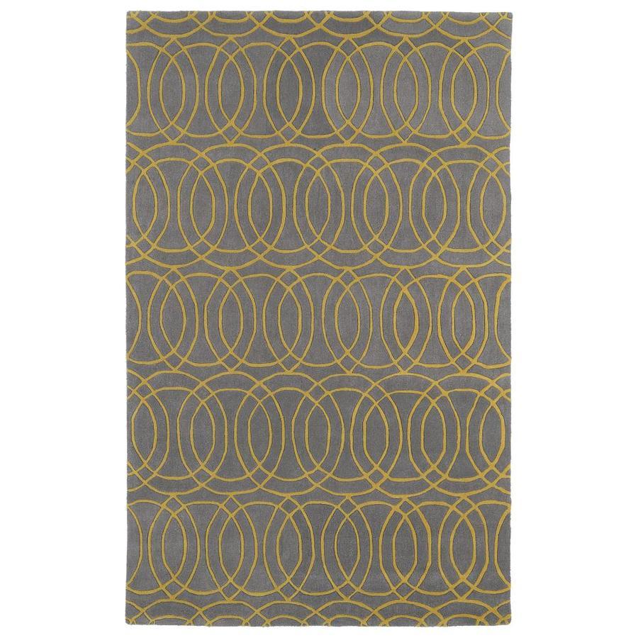 Kaleen Revolution Yellow Rectangular Indoor Handcrafted Novelty Area Rug (Common: 10 x 13; Actual: 9.5-ft W x 13-ft L)